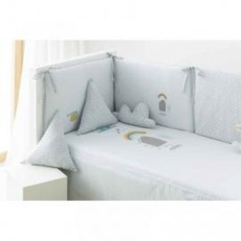 Edredon Reversible+Protector Forest Gris 60X120